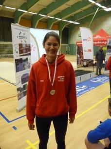Julie et sa médaille